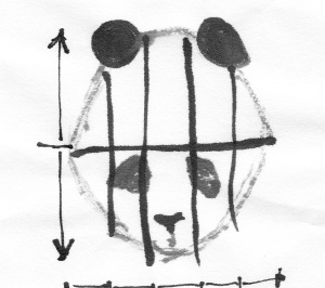 pandaHeadHalved