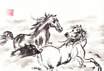 HorseRunning TogetherCH copy