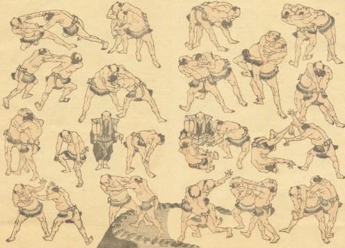 hokusai_manga_sumo_page