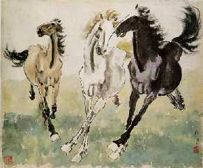 XuBeihong3horses