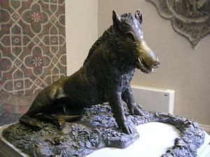 Here is Pietro Tacca's original bronze piglet.